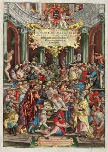Frontespizio (colorato) della Fabrica di A. Vesalio