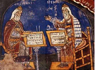 Ippocrate e Galeno (affrescati presso il Duomo di Anagni)