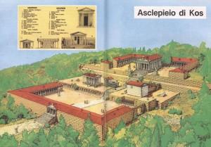 Diagramma dell'Asclepieio di Kos