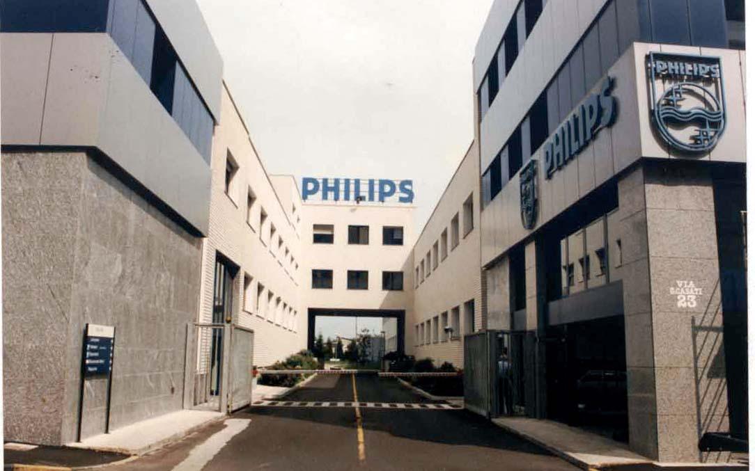 philips sede italiana della compagnia storia della