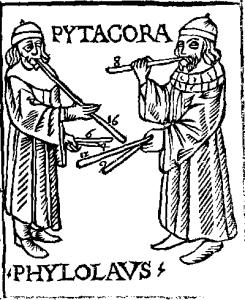 Pythagoras and Philolaus (xilografia)